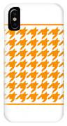 Rounded Houndstooth With Border In Tangerine IPhone Case