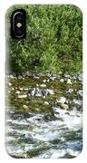 Rounded Rocks In A Rushing River IPhone Case