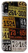 Route 66 Oklahoma Car Tags IPhone Case