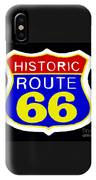 Route 66 Vintage Sign IPhone Case