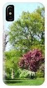 Row Of Flowering Trees IPhone Case