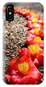 Row Of Flowers IPhone Case