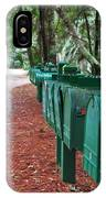 Row Of Green Mailboxes7426 IPhone Case
