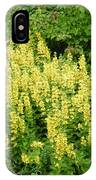Row Of Yellow Flowers IPhone Case