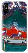 Rowboat In The Harbor At Port Of Valpaparaiso-chile IPhone Case