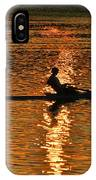Rowing At Sunset 3 IPhone Case