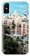 Royal Hawaiian Hotel  IPhone Case