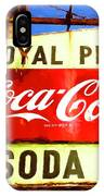 Royal Phcy Coke Sign IPhone Case