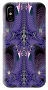 Royal Purple Backbone Fractal Abstract IPhone Case