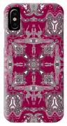 Rubies And Silver Kaleidoscope IPhone Case