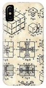 Rubik's Cube Patent 1983 - Vintage IPhone Case
