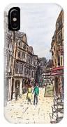 Rue Malpalu, Rouen, France I IPhone Case
