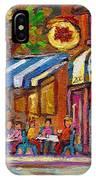 Rue Prince Arthur Casa Grecque Montreal IPhone Case