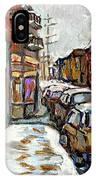 Achetez Les Petits Formats Scenes De Montreal St Viateur Bagel And Cola Truck Buy Montreal Painting  IPhone Case