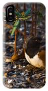 Rufous Sided Towhee At A Glance IPhone Case