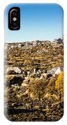 Rugged Mountain Town IPhone Case