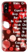 Rules To Live By IPhone Case