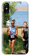 Runners At The 24 Hours Of Triathlon IPhone Case