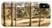 Rural Paddock In Australian Countryside IPhone Case