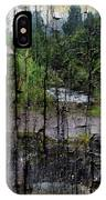 Rushing Cascade In The Andes - On Bark IPhone Case