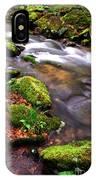 Rushing Stream Monongahela National Forest IPhone Case