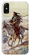 Russell Charles Marion Indian With Spear IPhone Case