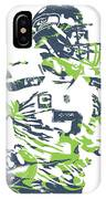 Russell Wilson Seattle Seahawks Pixel Art 10 IPhone Case