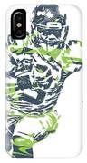 Russell Wilson Seattle Seahawks Pixel Art 12 IPhone Case