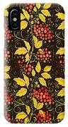 russian pattern Hohloma IPhone Case
