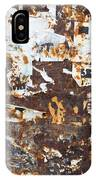 Rust And Torn Paper Posters IPhone Case