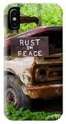 Rust In Peace 2 IPhone Case