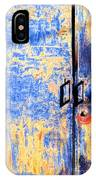 Rusted Blue And Yellow Door IPhone Case