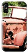 Rusted Mack Fire Engine IPhone Case