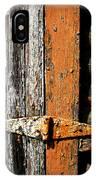 Rustic Barn Hinge IPhone Case