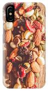 Rustic Dried Fruit And Nut Mix IPhone Case