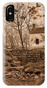 Rustic Lockhouse Mural IPhone Case