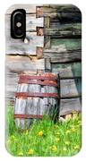 Rustic Rain Barrel At Old World Wisconsin IPhone Case