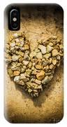 Rustic Rock Romance IPhone Case
