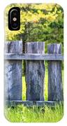 Rustic Wooden Fence At Old World Wisconsin IPhone Case