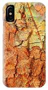 Rusty Bark Abstract IPhone Case