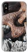 Rusty Iron Chain Railing Fragment IPhone Case