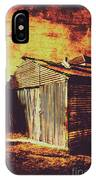 Rusty Outback Australia Shed IPhone Case