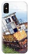 Rusty Retired Fishing Boat IPhone Case