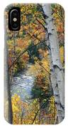 Saco River And Birches IPhone Case