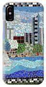 Sacramento City Skyline Mosaic IPhone Case
