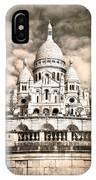 Sacre Coeur Sepia IPhone X Case
