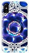 Sacred Geometry Blue Shapes Background IPhone Case