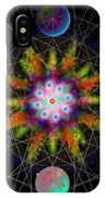 Sacred Planetary Geometry - Dark Red Atom IPhone Case