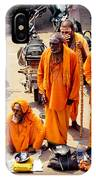 Sadhu Near The Thirupparamkunram Murugan Temple IPhone Case