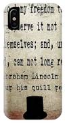 Said Abraham Lincoln IPhone Case